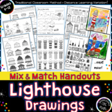 Draw  LIGHTHOUSES! Introduce Rule of Thirds PLUS 10 Printable Art Worksheets!