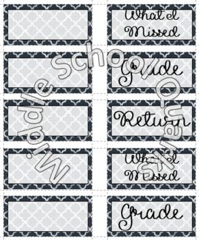 Draw Labels - Chalkboard