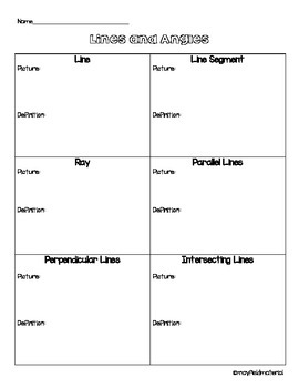 Draw Lines and Angles Handout