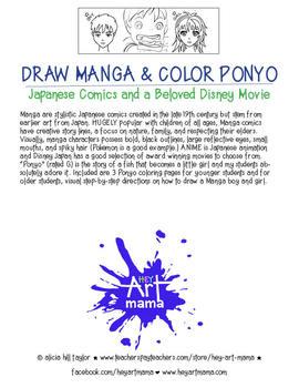 Draw Manga and Color Ponyo