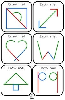 Draw Me! pre-handwriting skillbuilder cards