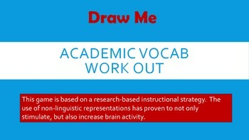 Draw Me - STAAR Reading Vocabulary game (3rd grade)
