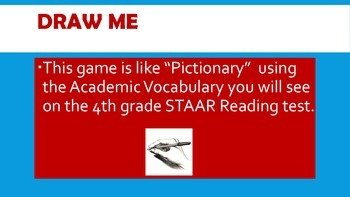 Draw Me - STAAR Reading Vocabulary game (4th grade)