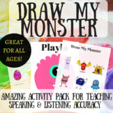 ESL Game!! ☀ Draw My Monster ☀ - Amazing English Game (Body Parts & Shapes)