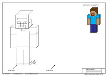 Draw Oblique and Isometric Minecraft