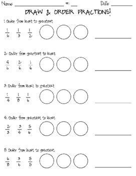 Draw & Order Fractions