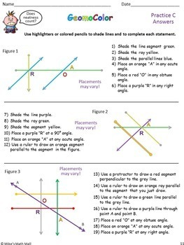 Draw Points, Lines, Segments, Rays, Angles... (Mini Bundle)