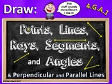 Draw Points, Lines, Segments, Rays, Angles... (PowerPoint Only)
