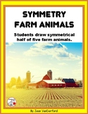 Draw SYMMETRY in FARM ANIMALS ... Color for Bulletin Board ... Gr. 3-4-5
