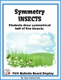 Draw SYMMETRY in INSECTS... Color for Bulletin Board ... Gr. 3-4-5