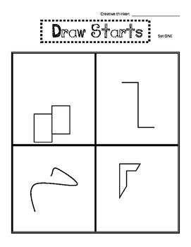 Draw Starts (10 Sets) for Creative Thinking