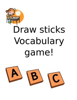 Draw Sticks Vocabulary Game