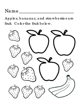 Draw Strawberries Colors Red Yellow Fruit Shapes Triangle Circle 4 pages