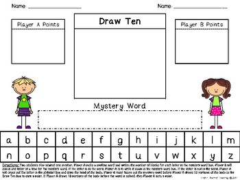 Draw Ten Mystery Word Game