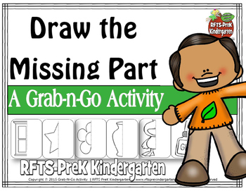 Draw The Missing Part (Grab-n-Go $1  Deal)