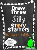 Draw Three Silly Story Starters- Halloween Edition- Creative Writing Activity