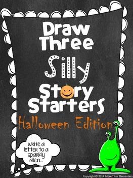 Draw Three Silly Story Starters- Halloween Edition- Creati