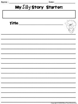 Draw Three Silly Story Starters- Valentine's Edition! FREEBIE!