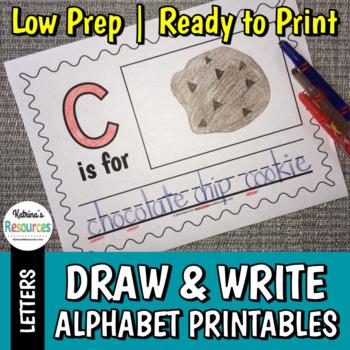 Draw & Write Alphabet Activity Printable