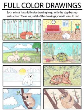 Drawing/Handwriting Course - Animal Alphabet Literacy Center (K-6) Cursive Too!