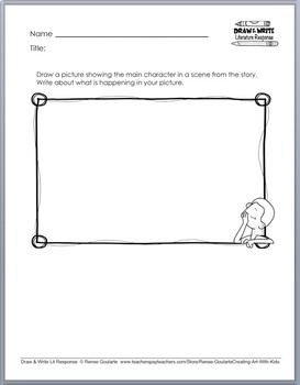 Printables - Literature Response - Draw and Write SAMPLE