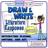 Printables Literature Response Draw and Write FREE SAMPLE
