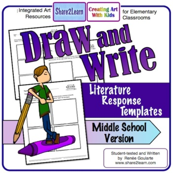 Printables - Literature Response - Draw and Write Middle School