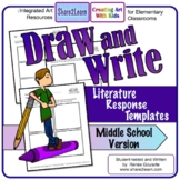 Printables Literature Response Draw and Write Middle School