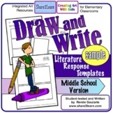 Printables Literature Response Draw and Write Middle Schoo
