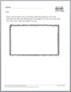 Printables - Literature Response - Draw and Write Middle S
