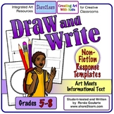 Printables Response to Non-Fiction Draw and Write Distance Learning