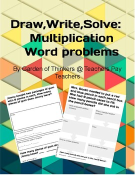 Draw, Write, Solve: Multiplication Word Problems