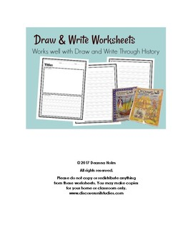 Draw & Write Worksheets