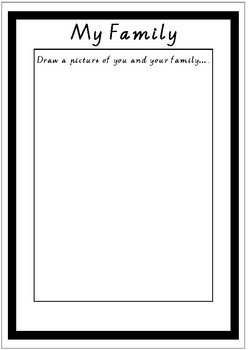Draw Your Family Worksheet