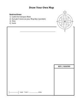 Draw Your Own Map Worksheet