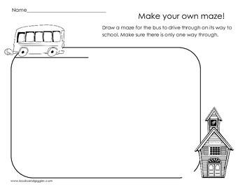 Draw Your Own Maze - Back to School Maze Frame