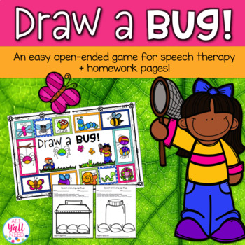 Draw a BUG! Game - Open-Ended for Speech & Language Therapy