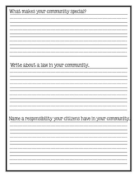 Draw a Community Worksheet