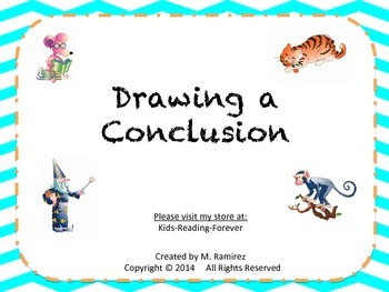 Draw a Conclusion Task Cards set 1