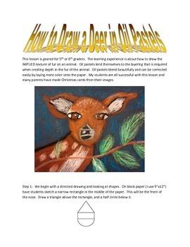 Draw a Deer in Oil Pastel