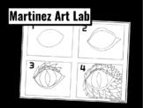 Draw a Dragon Eye Step by Step Handout