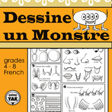 Dessine un Monstre/ Draw a French Monster Art Activity