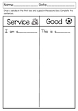 Draw a Good and Service Printable Freebie