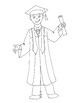 Draw a Graduate Game with Coloring Page
