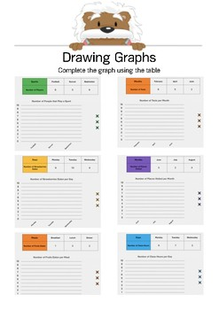 Draw a Graph 1 - Complete the graph - Gr. 4-6