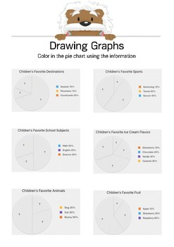 Draw a Graph 4 - Color the pie chart - Gr. 4-6