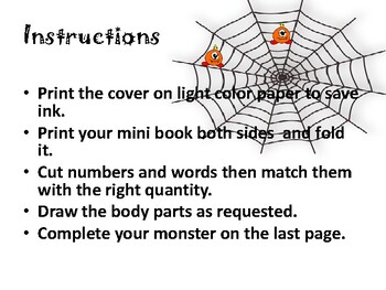 Draw a Halloween monster - Drawing and counting book