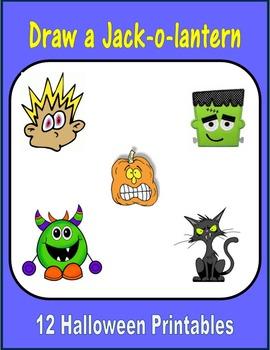 Draw a Jack-o-lantern