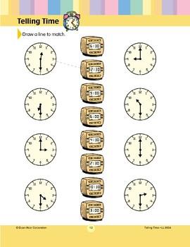 Draw a Line to Match (Hour, Half-hour)
