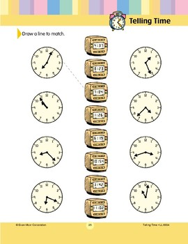 Draw a Line to Match (Minutes/Clock Faces)